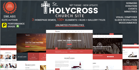 Elegant Church Website Theme