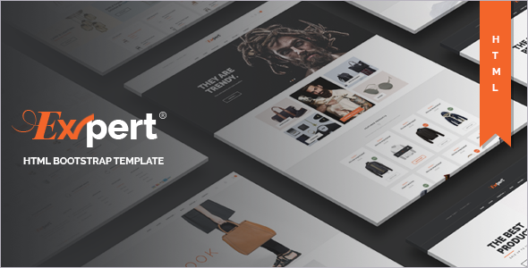 Elegant Ecommerce Bootstrap Template