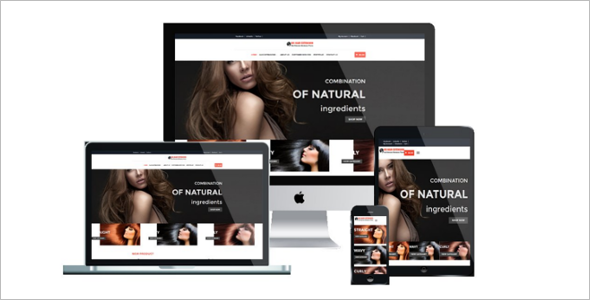 Elegant Hair Salon Website Template