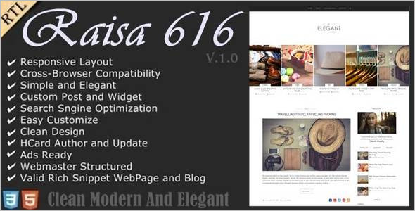 Elegant SEO Friendly Blogger Template