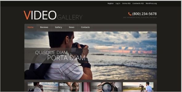 Elegant multimedia WordPress Theme