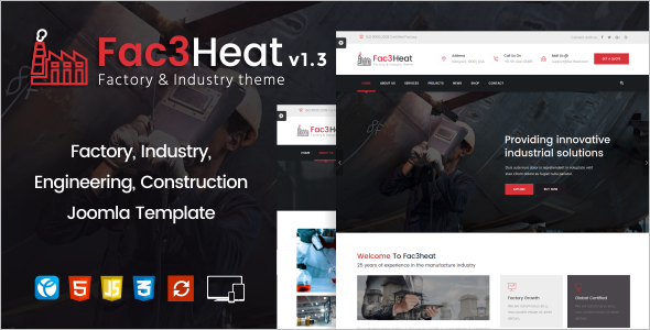 Engineering Joomla Template