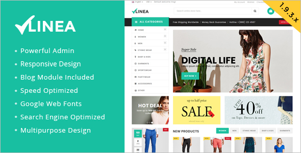 Fashion Cloth Magento Template