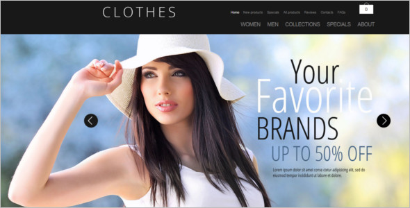 Fashion Clothes ZenCart Template