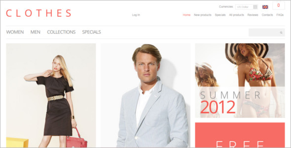 Fashion Collection ZenCart Template