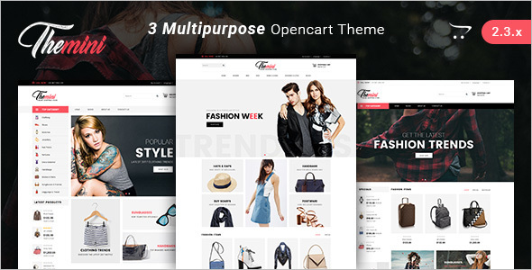 Fashion E-commerce Opencart Theme