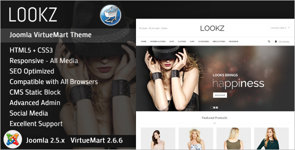 Fashion Joomla VirtueMart Template