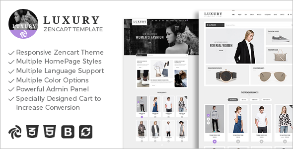 Fashion Mobile Friendly Zencart Template