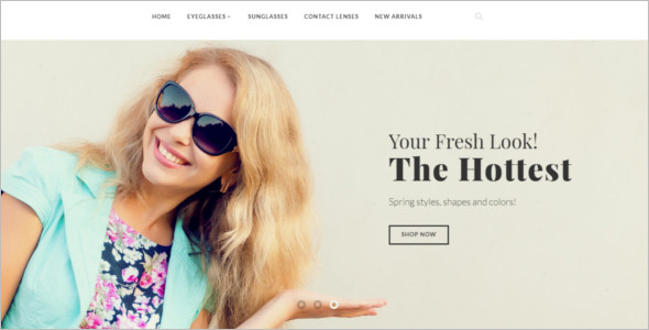 Fashionable Eye Glasses OpenCart Template