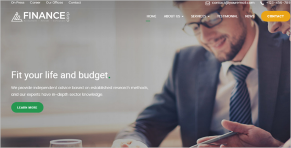 Financial Services Website Template