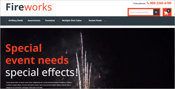 Fireworks Store Magento Template