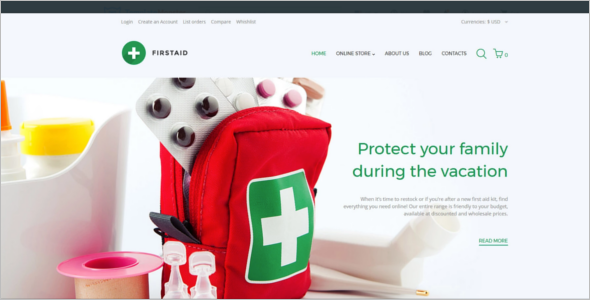 First Aid Responsive VirtueMart Template