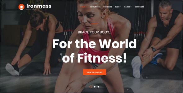 Fitness Center Website Template
