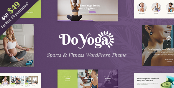 Fitness Studio Website Template