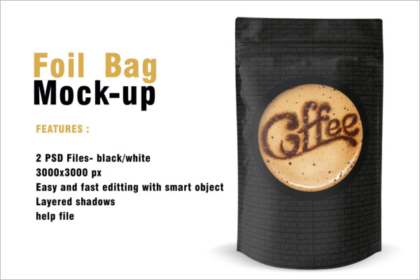 Foil Bag Packing Mockup