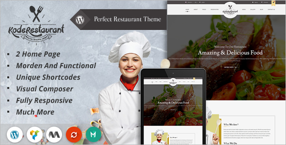 Food Court Restaurant Website Template