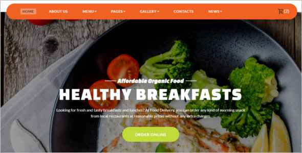 Food Ordering Website Template