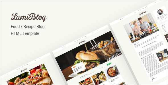 Food Recipes Blog Website Template