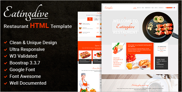 Food Services Website Template