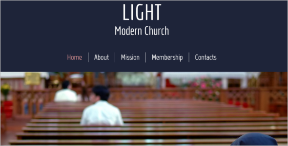 Free Church Website HTML 5 Theme