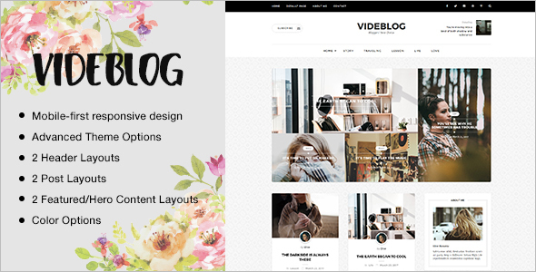 Friendly Videblog Website Template