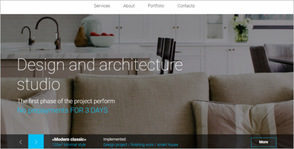Furniture Bootstrap HTML 5 Theme