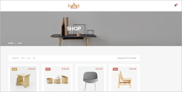 Furniture Store Bootstrap Template