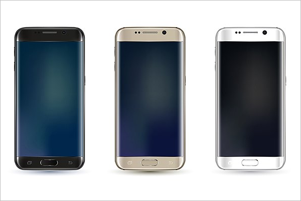 Galaxy S7 Edge Mockup Vector