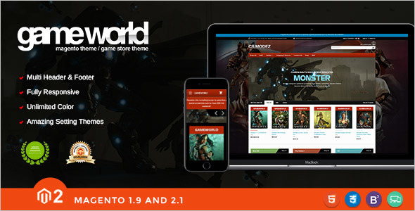 Game Store Magento Template