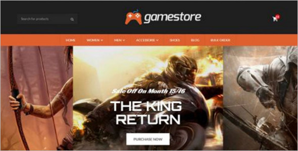 GameStore OpenCart Mobile Friendly Template