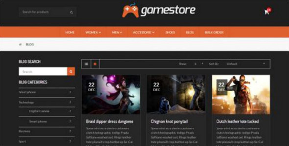 GameStore OpenCart Template