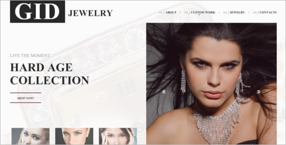 Gid Jewelry Website Template