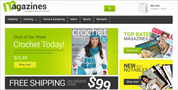 Glossy Magazines Magento Template