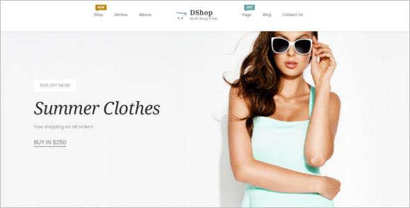 HTML Boutique Website Template