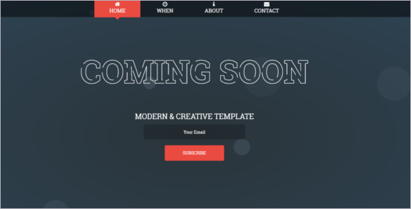 HTML Coming Soon Website Template