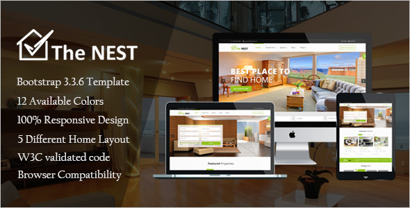 HTML Real Estate Website Template