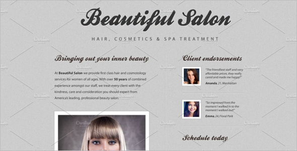 Hair Cosmetic Website Template