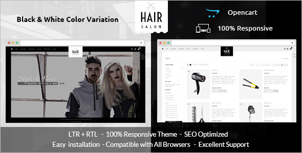 Hair Salon Opencart Template