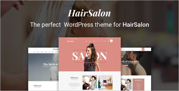 Hair Salon Website Inspiration Theme