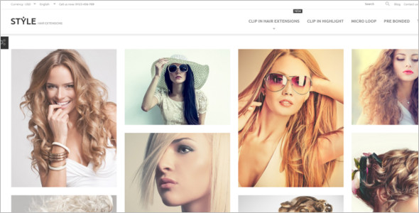 Hair Setting Prestashop Theme