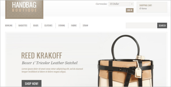 Handbag Boutique ZenCart Template