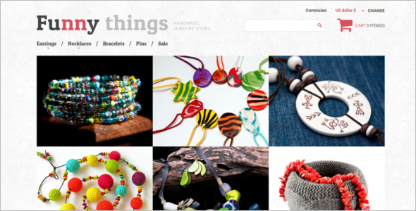 Handmade Jewelry VirtueMart Theme