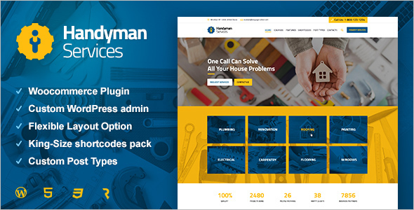 Handyman Services Website Template