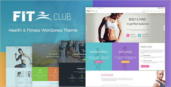 Health Fitness Website Theme