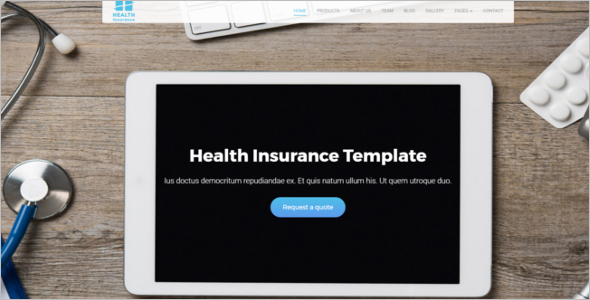 Health Insurance Website Template