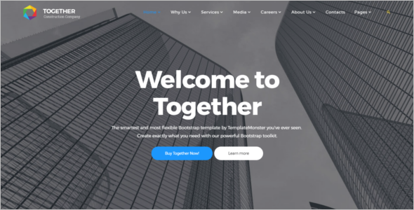 Home Construction Website Template