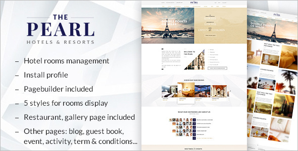 Hotel Booking Drupal Template