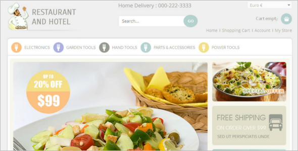 Hotel Food Virtuemart Template