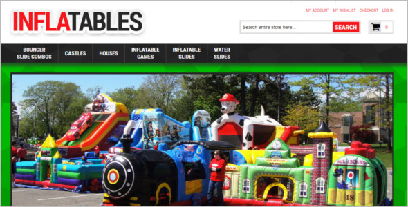 Inflatables Magento Template