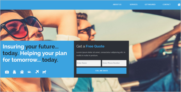 Insurance Claiming Website Template